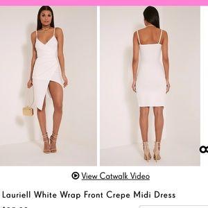 Wrap Midi Dress - PrettyLittleThing
